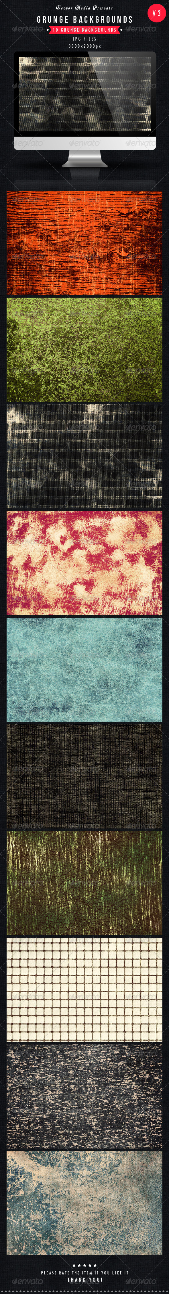 GraphicRiver Grunge Backgrounds Vol 3 5139894