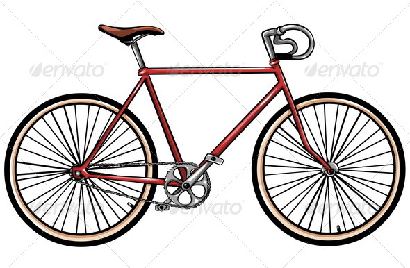 GraphicRiver Red Bicycle 5130638