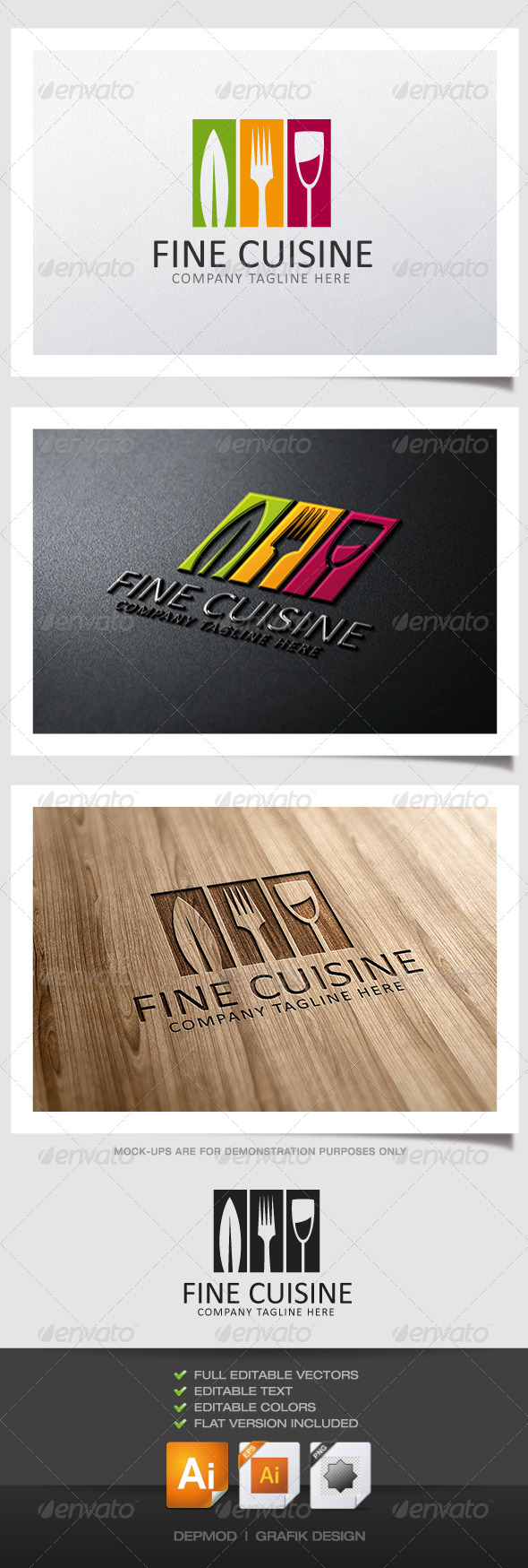Fine Cuisine Logo - Food Logo Templates