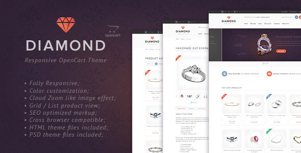 A few words about «Diamond» OpenCart Theme «Diamond» is the OpenCart template, which is made in a clear &am