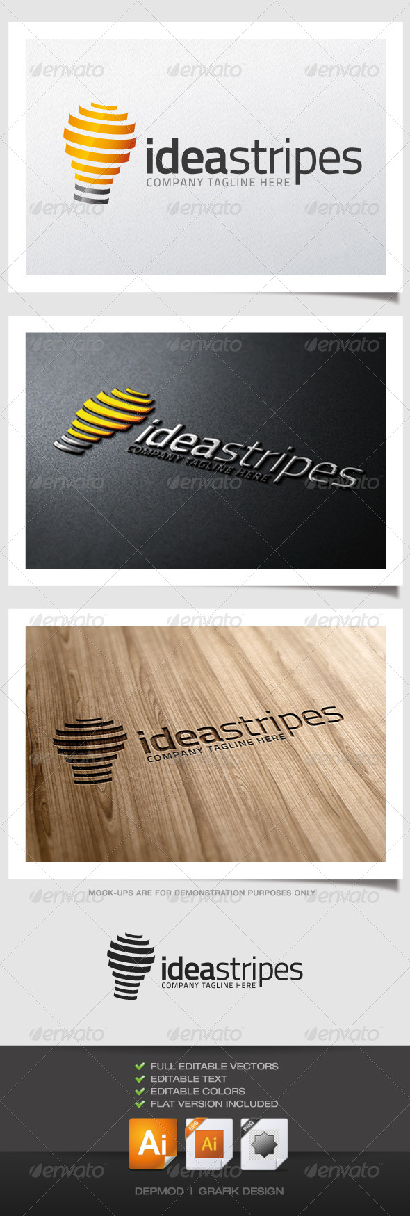 GraphicRiver Idea Stripes Logo 5140143