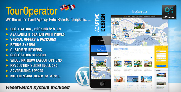 ThemeForest Tour Operator WP theme with Reservation System 5060723