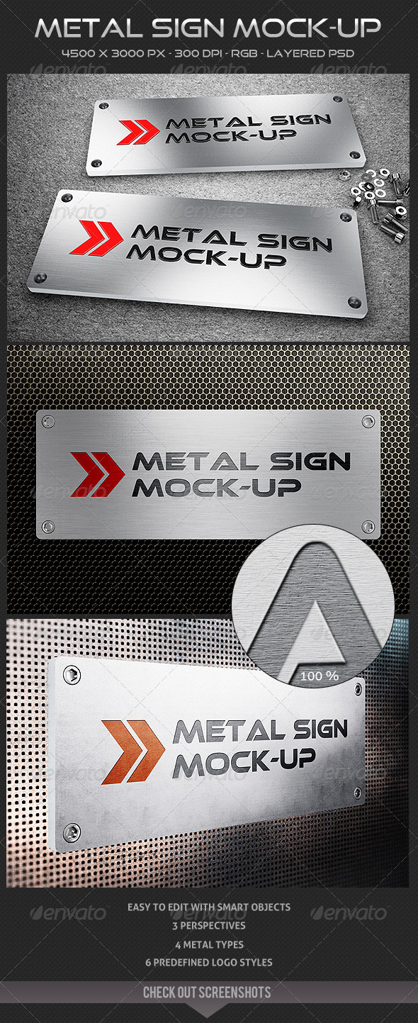 GraphicRiver Metal Sign Mock-up 5140565