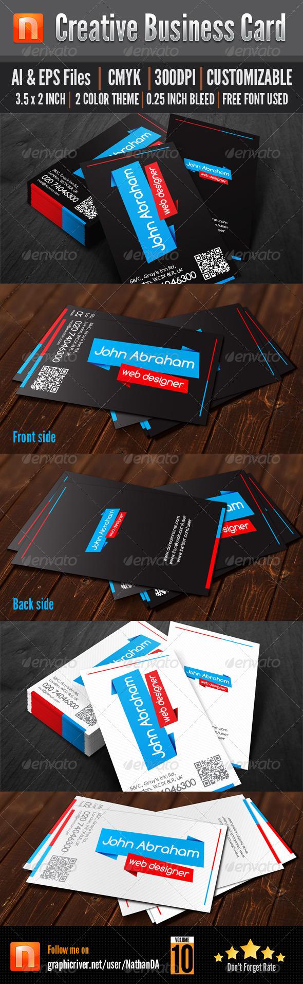 GraphicRiver Creative Business Card V10 5141075