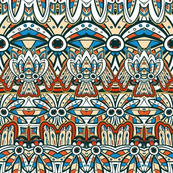 GraphicRiver Seamless Indian Pattern 5141176