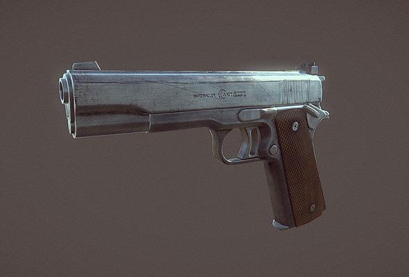 3DOcean AMT Hardballer Handgun 5141181