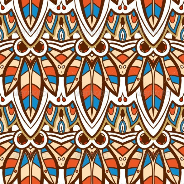 GraphicRiver Seamless Indian Pattern 5141182