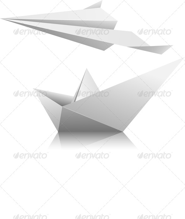 GraphicRiver Airplane and Ship 5141276