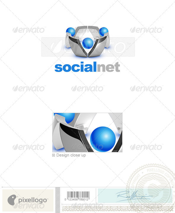 Social Media Logo 3D-720 - 3d Abstract