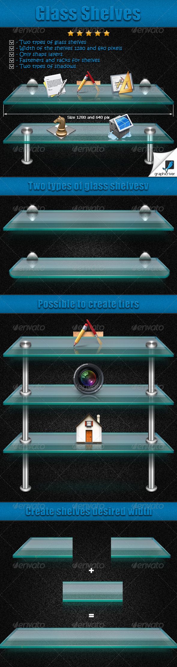 GraphicRiver Glass Shelves 5141752