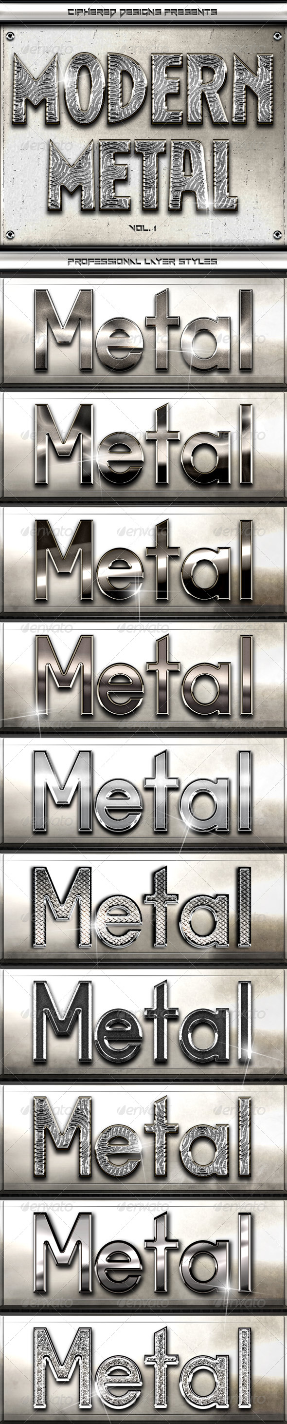 GraphicRiver Modern Metal Professional Layer Styles 5141931