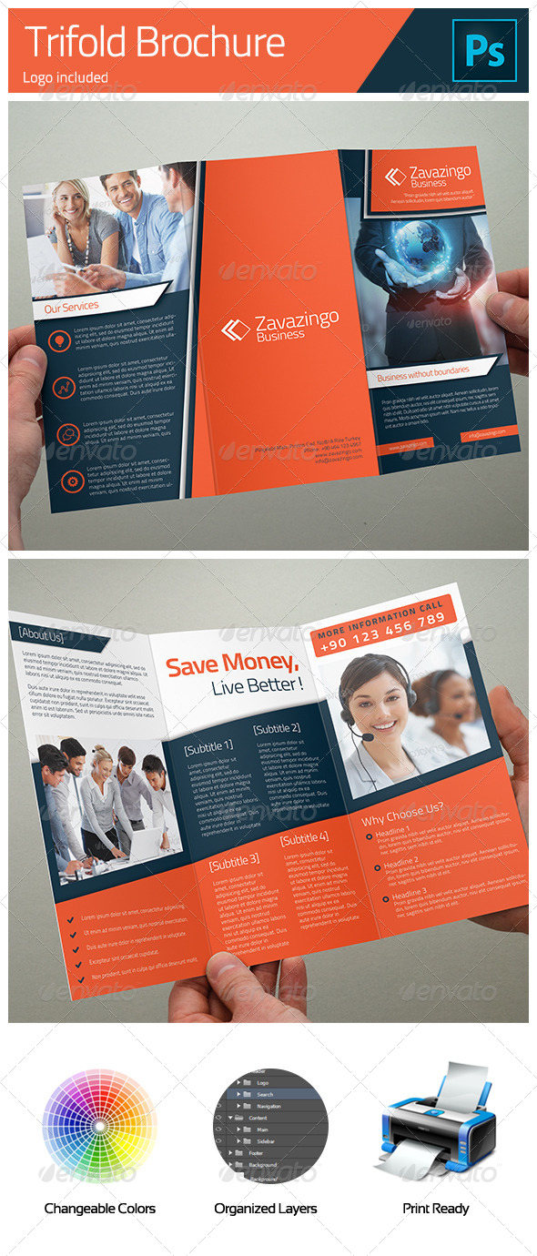 GraphicRiver Business Trifold Brochure 5141933