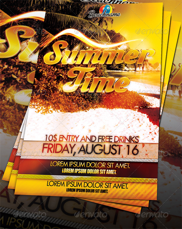 GraphicRiver Summertime Party Flyer 251794