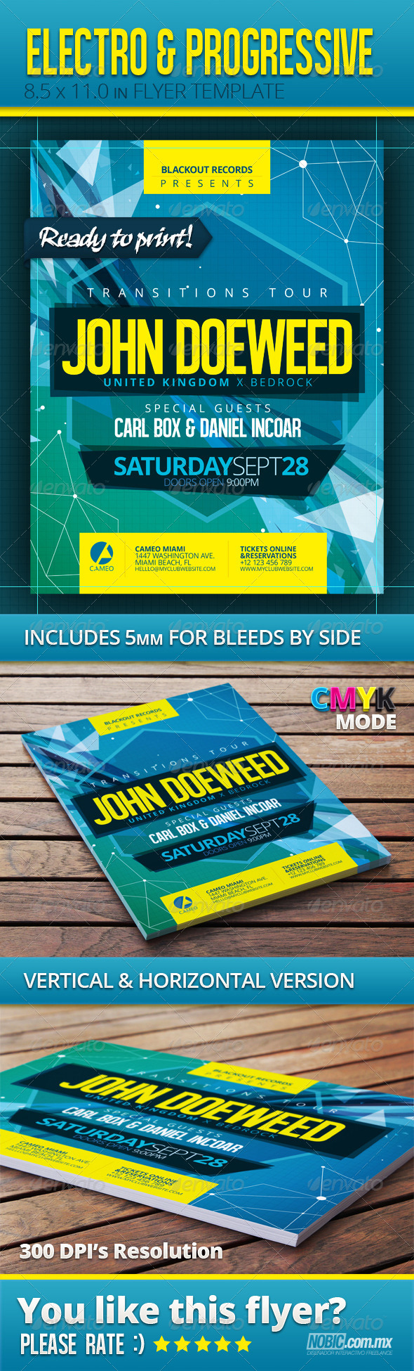 GraphicRiver Electro and Progressive Flyer Template 5142043