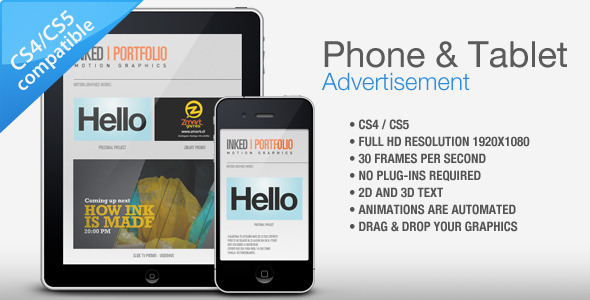 After Effects Project - VideoHive Phone Tablet Advertisement 476973