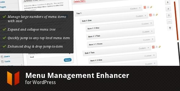 CodeCanyon Menu Management Enhancer for WordPress 529353