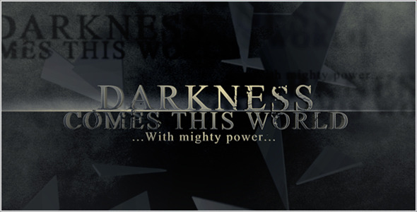 After Effects Project - VideoHive Darkness Falls 529494