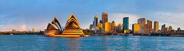 Sydney circular quay extra large panorama - Stock Photo - Images