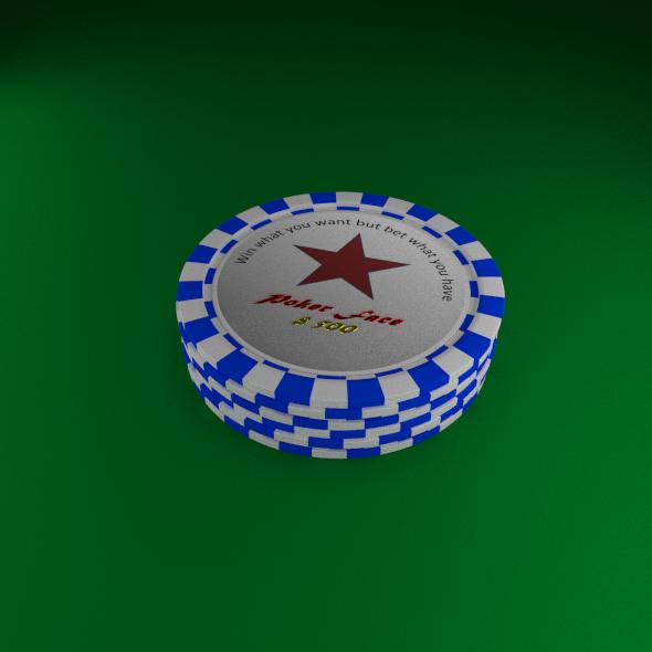 Poker Star Chips Set - 3DOcean Item for Sale