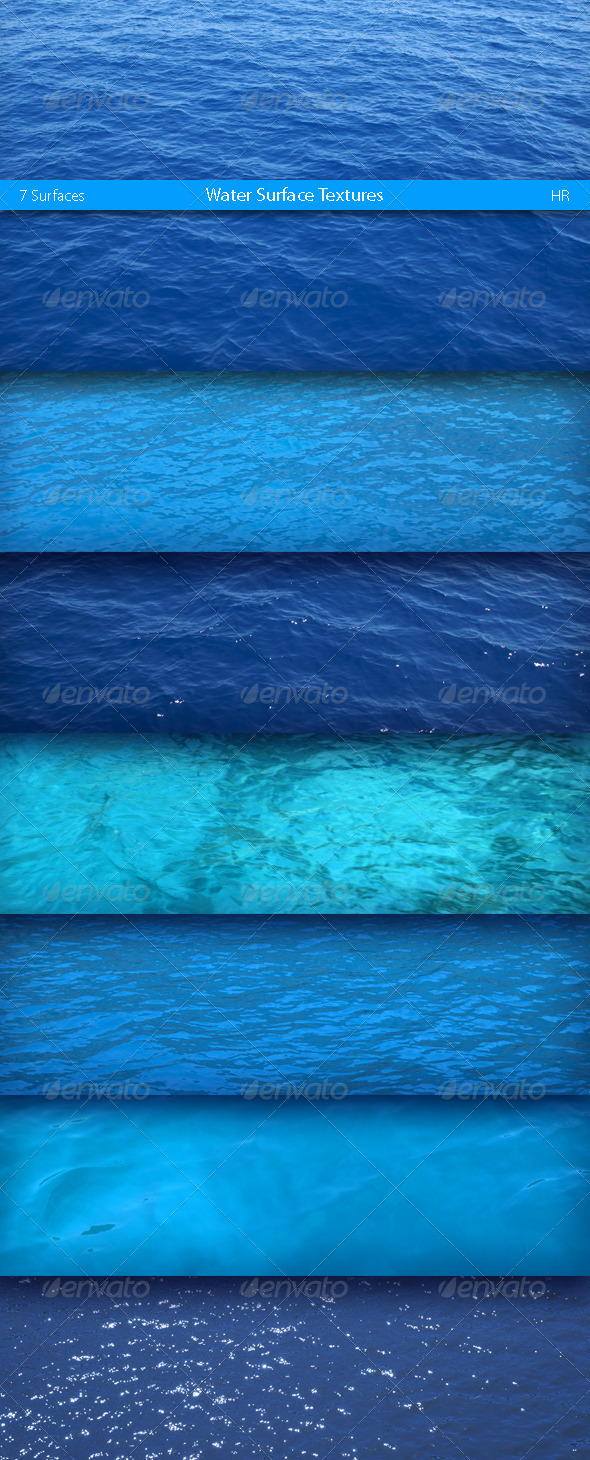 GraphicRiver Water Surfaces Textures 5143041