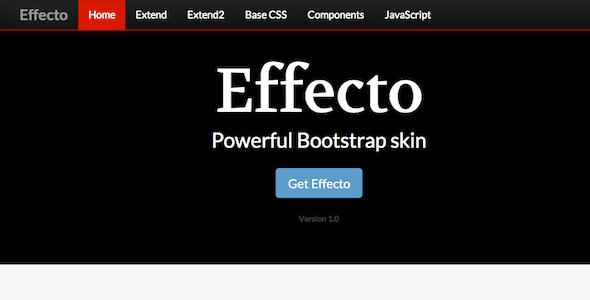CodeCanyon Effecto Premium Bootstrap Skin 5135933