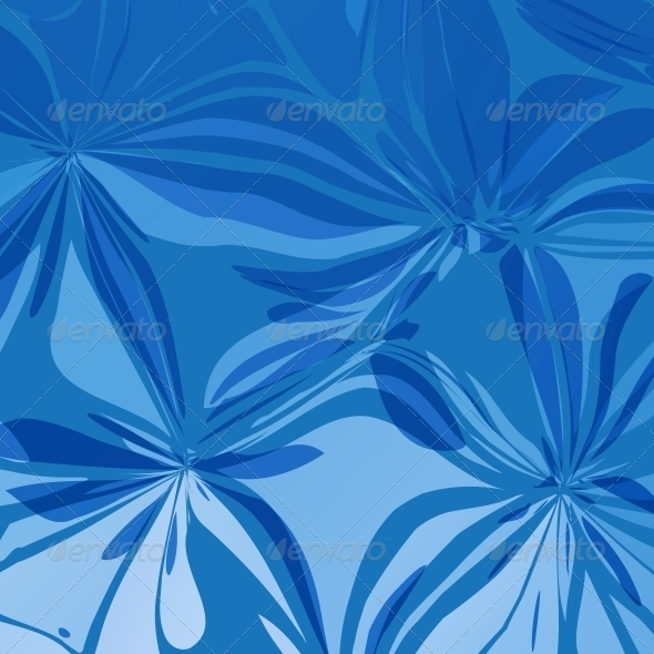 GraphicRiver Abstract Blue Flowers 5143064