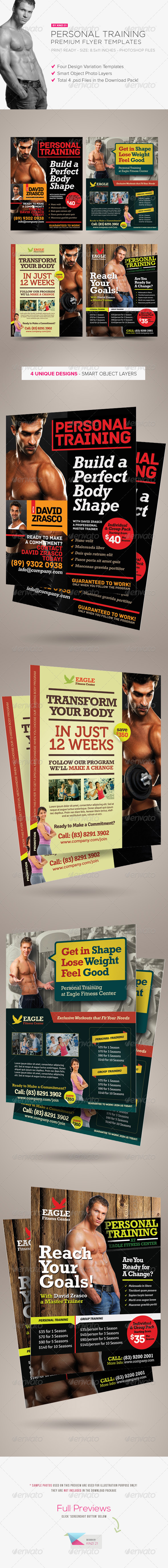 GraphicRiver Personal Training Flyers 5143213
