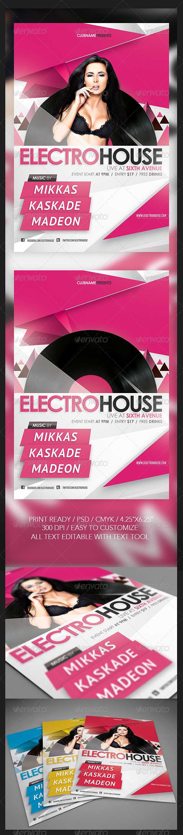 GraphicRiver Electro House Flyer 5143341