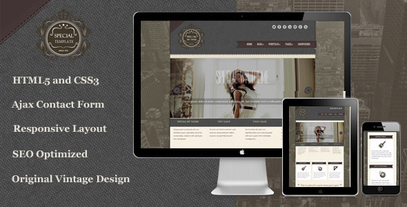 ThemeForest Special Responsive Vintage HTML5 Template 5143669