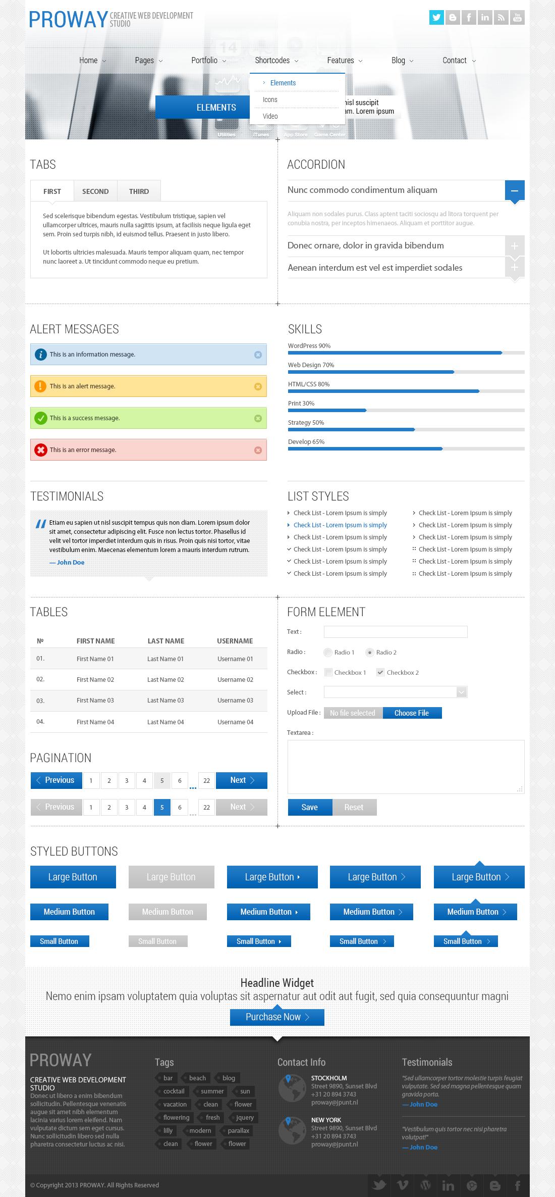ProWay Multipurpose PSD Template