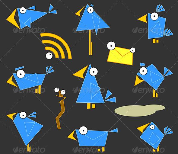 GraphicRiver Icon Bluebirds 5144522