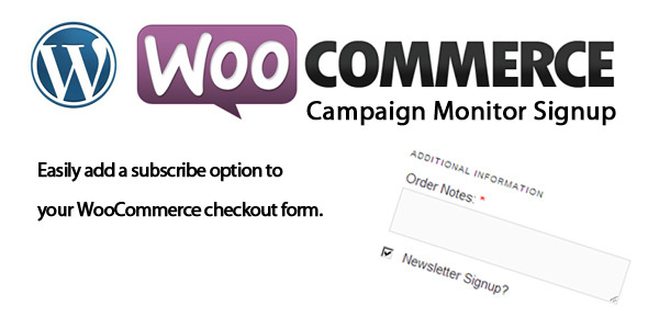 CodeCanyon WooCommerce Campaign Monitor Signup 5144638