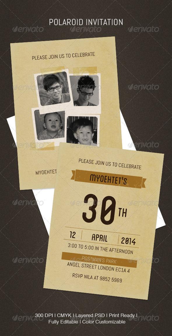 GraphicRiver Polaroid Invitation 5144663