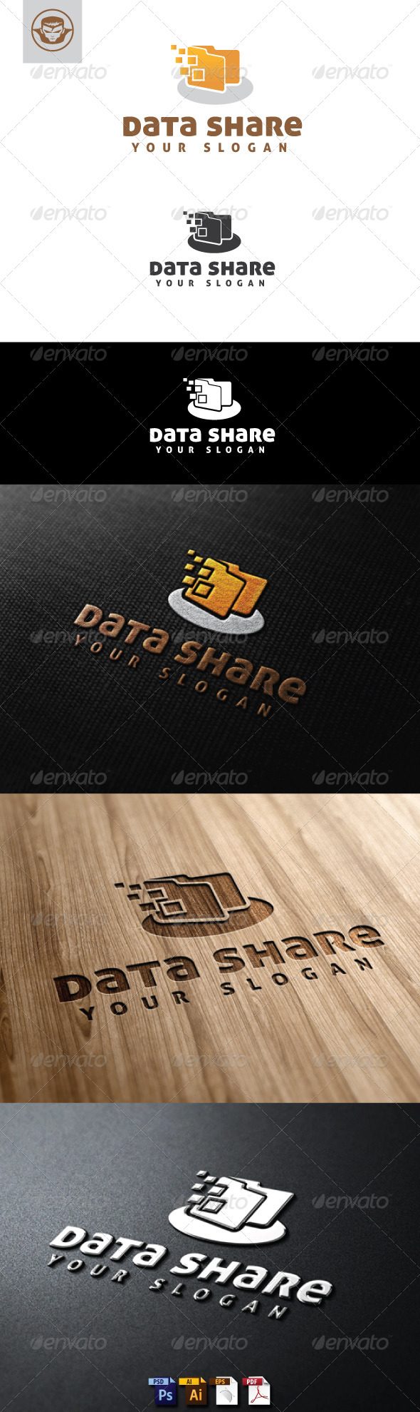 GraphicRiver Data Share Logo Template 5144912