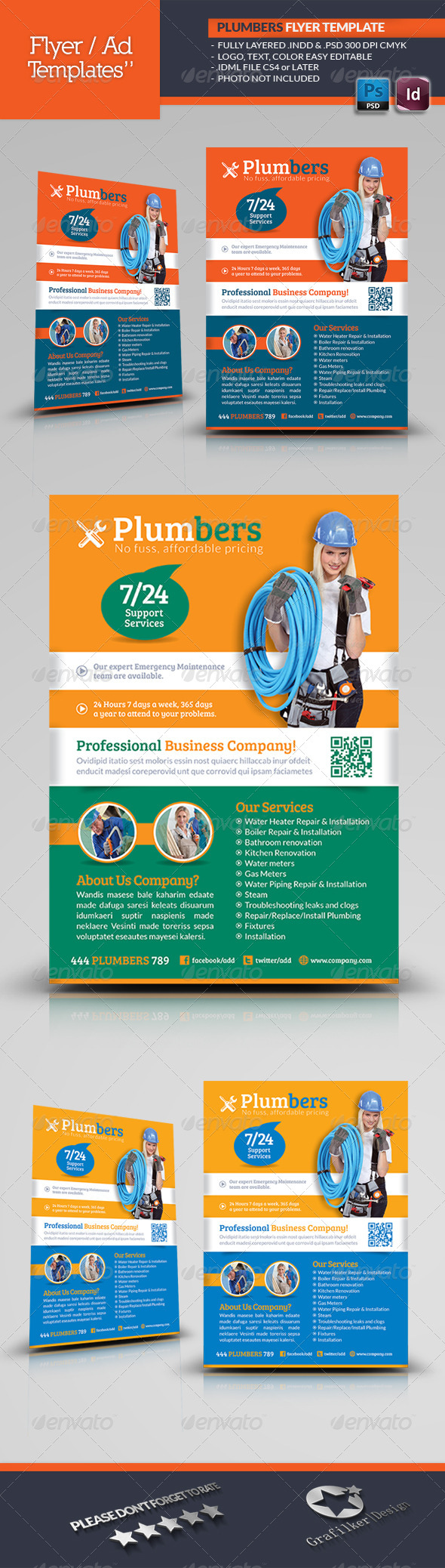 GraphicRiver Plumbers Flyer Template 5145160
