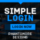 Simple Login - GraphicRiver Item for Sale
