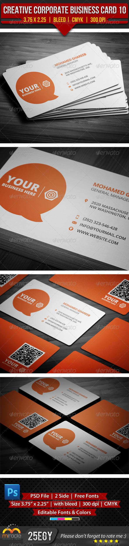 GraphicRiver Creative Corporate Business Card 10 5145171