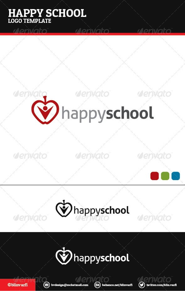 Happy School Logo Template - Symbols Logo Templates