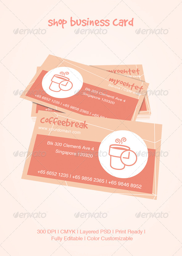 GraphicRiver Shop Business Card 5146186