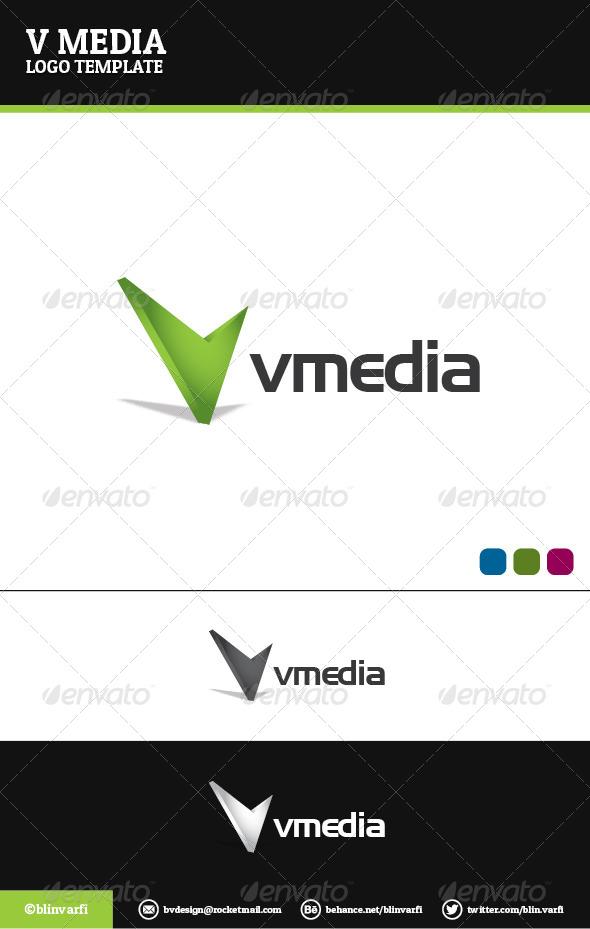 V Media Logo Temaplate - Letters Logo Templates