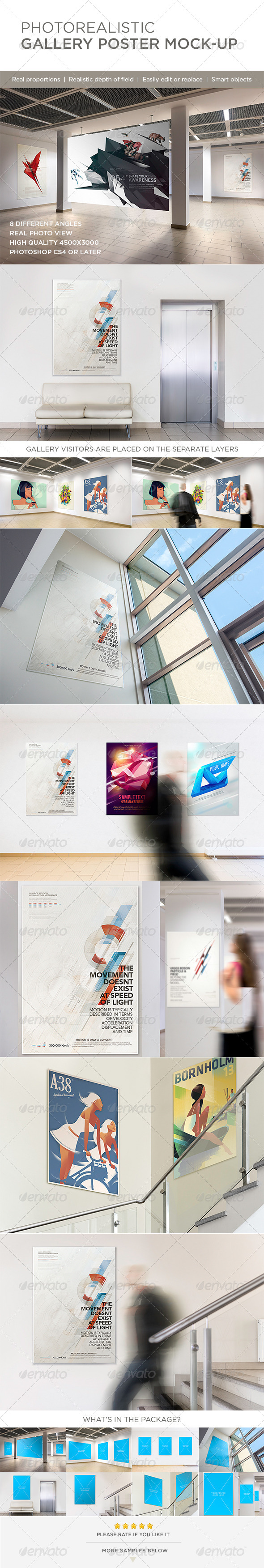 Photorealistic Gallery Poster Mock-Up - Posters Print