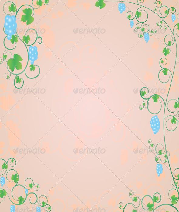 GraphicRiver Decorative Postcard with Grapevines 5146949