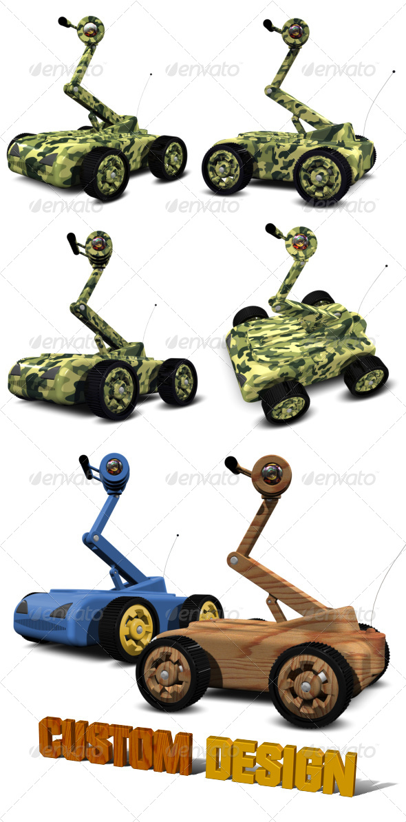 GraphicRiver Surveillance Robots 5147067