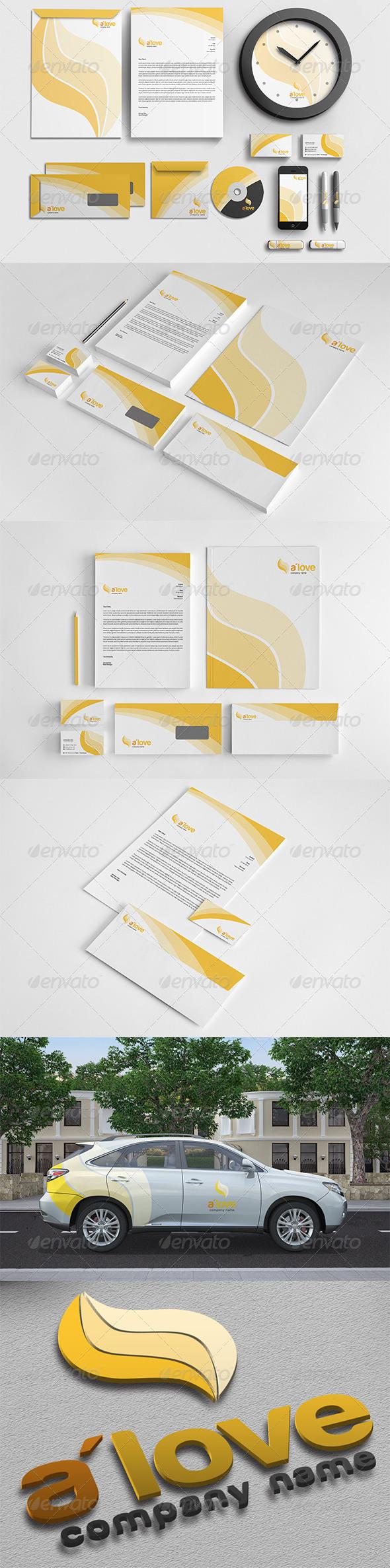 GraphicRiver A love Corporate Identity 5147195