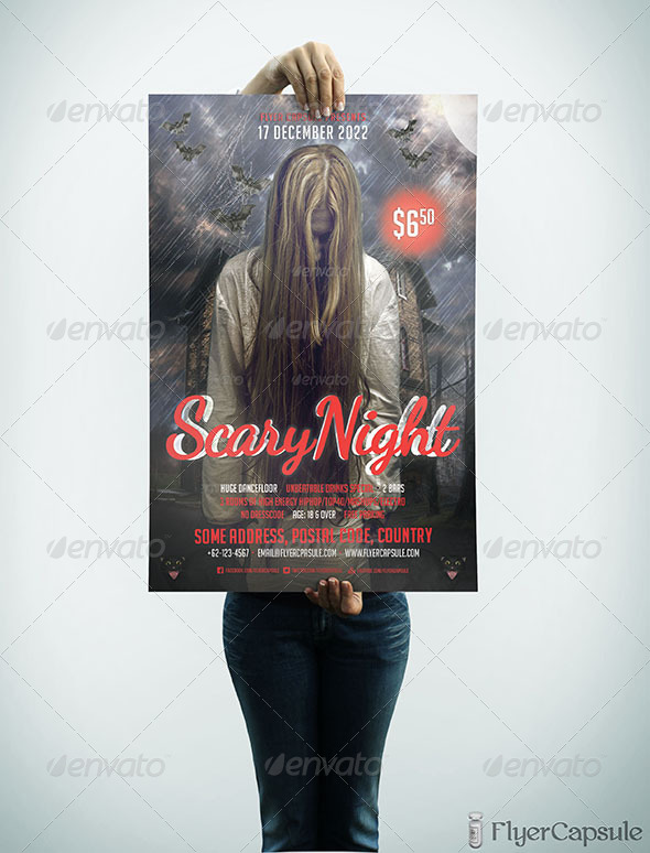 GraphicRiver Scary Night Flyer Template 4978390