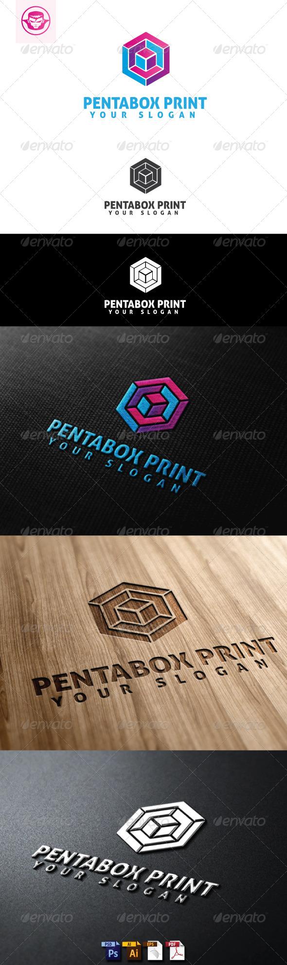 GraphicRiver Pentabox Print Logo Template 5147274