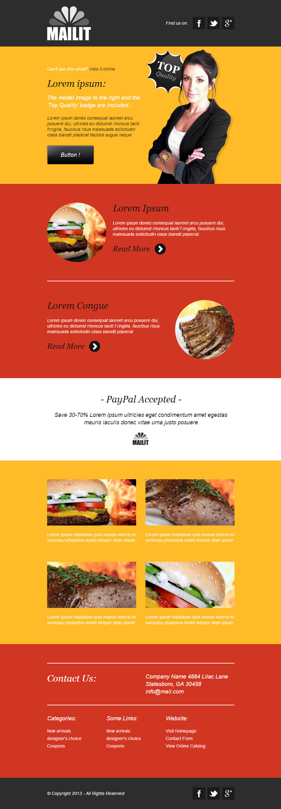 'MailIt' - Professional Responsive Email Template