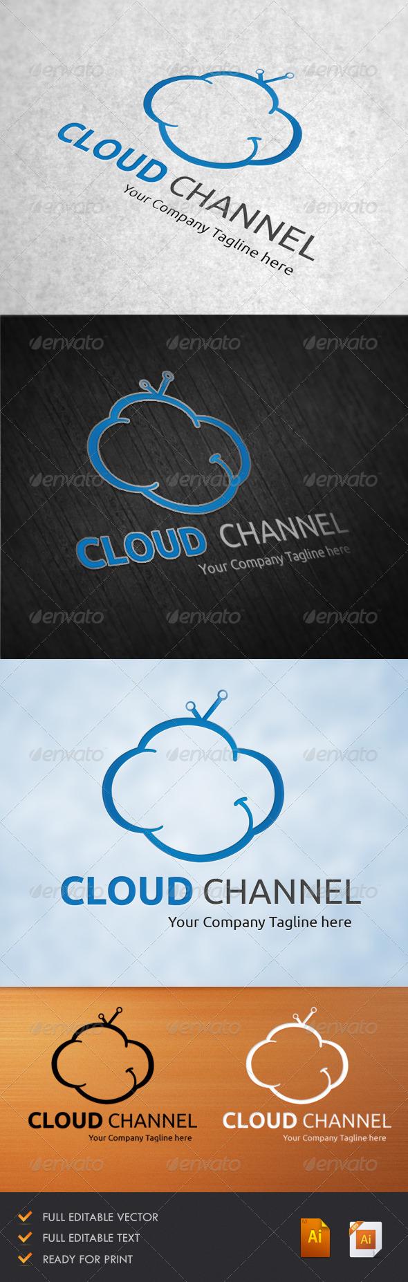 GraphicRiver Cloud Channel Logo 5134108