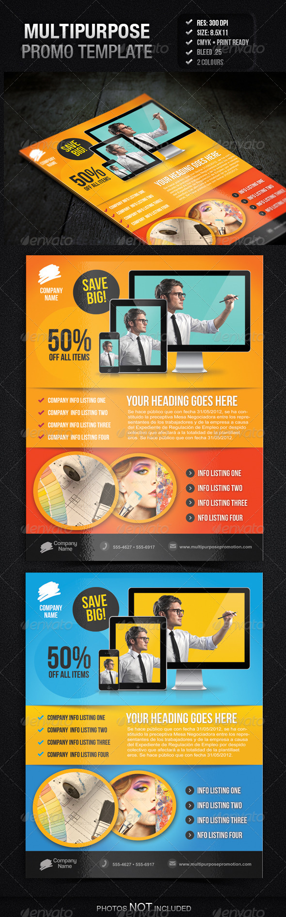 Multipurpose Promotion Flyer Template - Commerce Flyers