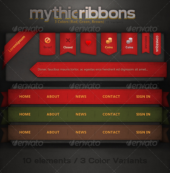 GraphicRiver Mythic Ribbons 5147401